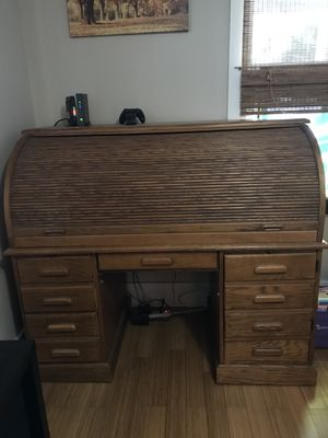 Solid wood roll-top secretary desk for Sale in Portland, OR