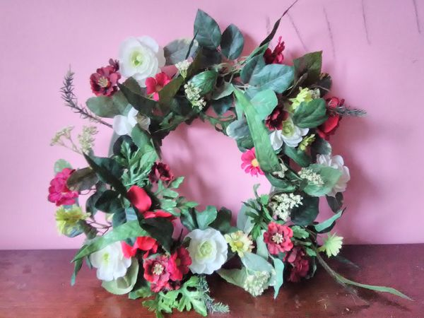 Artificial Flowers Wreath