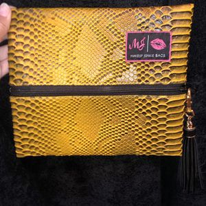 Small Yellow Makeup Junkie Bag for Sale in Midland, TX