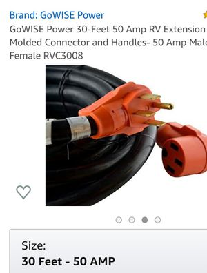 50 amp extension cord 30 ft for Sale in Tonawanda, NY
