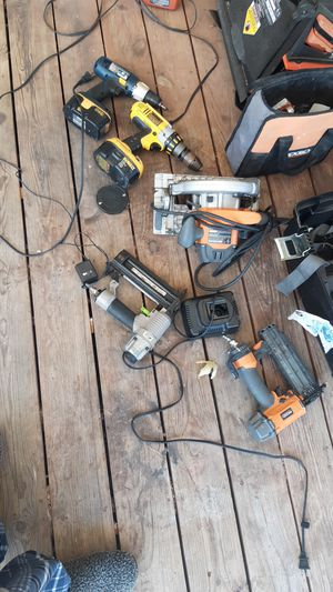 2 Drills W/Chargers 2 Nail Guns 1 Saw 2 Game Cameras for Sale in Fort Worth, TX