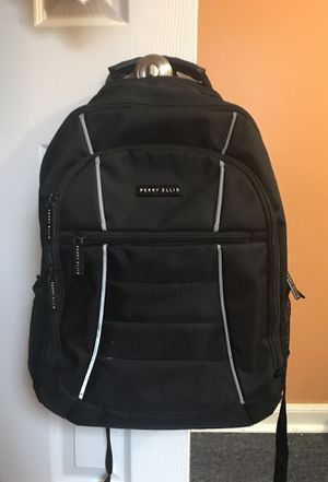 Perry Ellis Black Backpack - 4 pockets + laptop slot for Sale in Hyattsville, MD