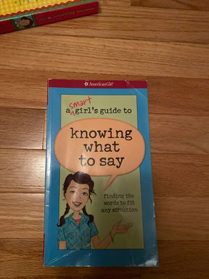 American Girl Doll - A smart girl's guide to knowing what to say for Sale in Alexandria, VA
