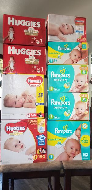 Diapers size 1 for Sale in Pomona, CA