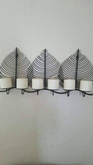 Candle holder with candles for Sale in Miami, FL