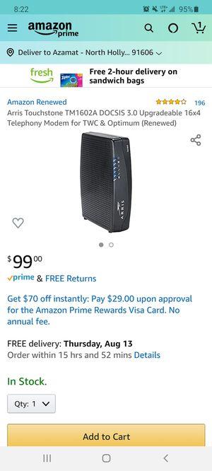 ARRIS WiFi Modem for Sale in Los Angeles, CA