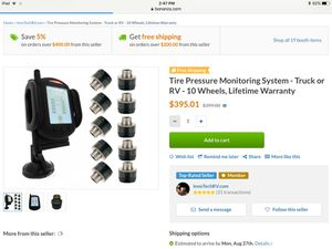 TPMS for 10 tires for Sale in Nashville, MI
