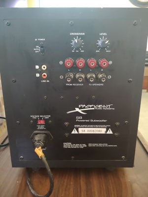 Proficient Audio Systems S8 Subwoofer for Sale in Dundalk, MD