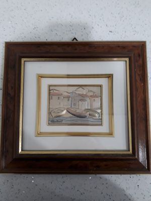 Vintage Italian handmade sterling silver framed art 11 x 9.5. Price reduced for Sale in Miami, FL