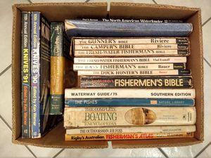Box of 17 Fishing, Boating, Hunting, Knife Books for Sale in Jupiter, FL