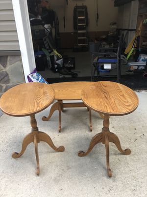 Amish made oak end tables and coffee for Sale in North Brunswick Township, NJ