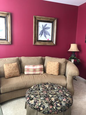 Couch with ottoman for Sale in Bartlett, IL
