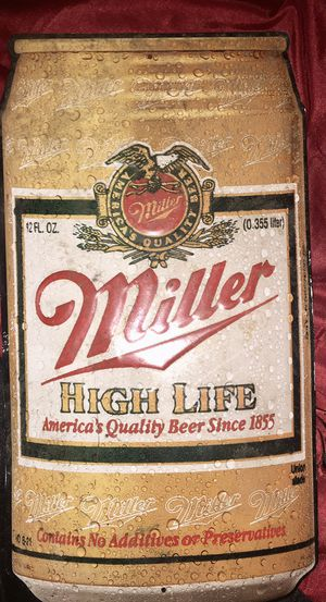 Vintage Metal Miller High Life beer sign large for Sale in Memphis, TN