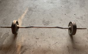 Weights and curl bar for Sale in Redlands, CA