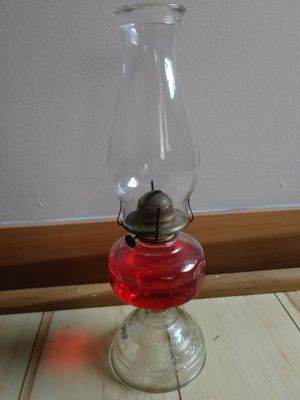Vintage Glass Oil Lamp with Oil for Sale in St. Louis, MO