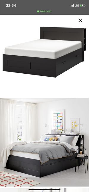 Queen size Used IKEA BRIMNES bed frame and headboard for Sale in Irvine, CA