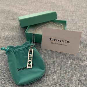 Tiffany And Co. Sterling Sliver Atlas Bar Pendant Necklace for Sale in Placentia, CA