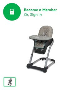 Graco blossom high chair 4-1 (four in one) excellent used condition. First owner from a smoke and pet free home. for Sale in Gilroy,  CA