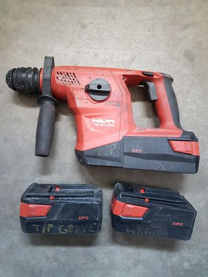 Hilti te30-a36 sds plus rotary hammer with 3 fully changed batteries for Sale in Castro Valley, CA
