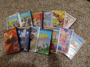 13 DVDs: Shrek, Cinderella, Lion King, Barbie for Sale in Houston, TX
