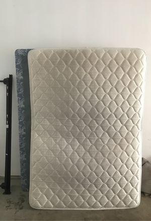 Free Full Bed+ box+ frame. for Sale in Denver, CO