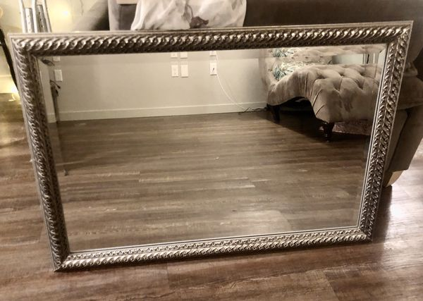 Silver Framed Mirror Perfect Condition