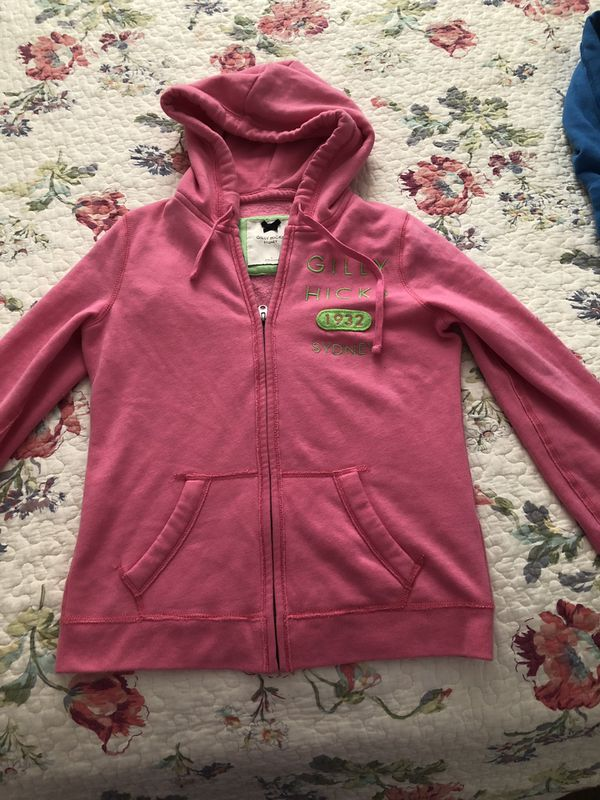 Super cute and very comfortable! Gilly Hicks Woman Full Zip Logo Hoodie Sweatshirt Jacket Women's Size S Great preowned condition!