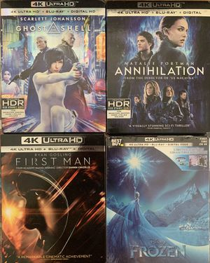 Annihilation   First Man   Frozen - 4K UHD Blu-ray Movies for Sale in Los Angeles, CA
