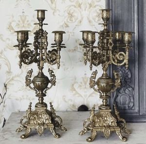 Pair of Italian Brass Candelabra Retailed $1200 for Sale in ROWLAND HGHTS, CA