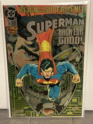 DC Comics SUPERMAN issue #82 Variant Chrome see through Cover Comic Book - First Print - Key Issue - Reign Of Superman!!! for Sale in Plainfield, IL