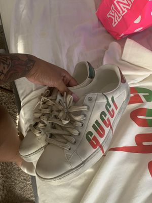 Gucci shoes n shirt shoes not dirty they come like that shoes a 8 in men's shirt is a medium runs big for Sale in Houston, TX