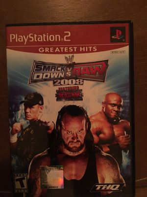 Sony PlayStation ps2 wwe smack down vs raw 2008 for Sale in Visalia, CA