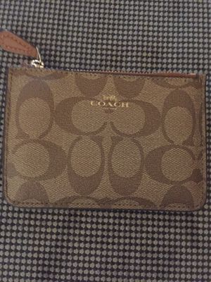 Coach Signature Pouch Wallet BNWT for Sale in Peabody, MA