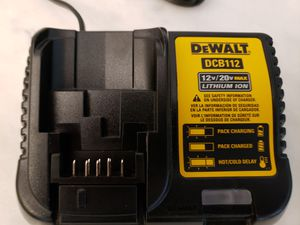 NEW DEWALT20-Volt Max Power Tool Battery Charger Model #DCB112 for Sale in Indianapolis, IN