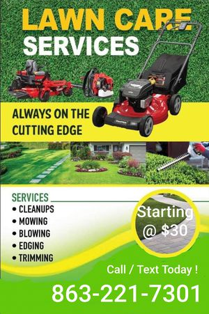 L@wn S£rVic£ Mow, W££ding @nd Blow for Sale in Winter Haven, FL