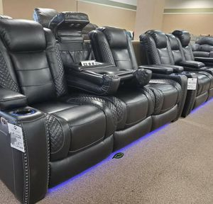 📍📍💲39 Down Payment.📍EXCLUSIVE] Party Time Midnight LED Power Reclining Living Room Set with Adjustable Headrest byAshley for Sale in Washington, DC