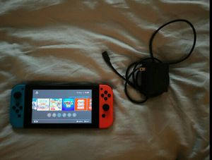 Nintendo Switch 2nd Edition (V2) Extended Battery Device With Charger & Games for Sale in Brooklyn, OH
