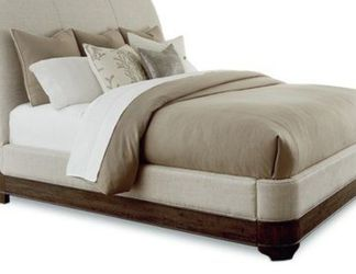 Wood And Upholstery sleigh Bed Frame for Sale in Buda,  TX