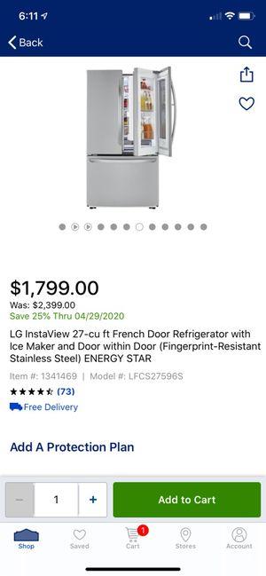 Lg refrigerator for Sale in Spartanburg, SC