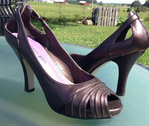 """MADDEN GIRL Pinkish Bronze Leather Peep Toe 4"""" High Heel Pumps Women's Shoes Sz 8 for Sale in Paris, KY"""