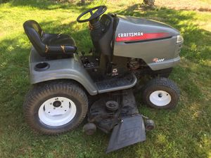 Craftsman riding lawnmower GT5000 with attachments for Sale in Kent, WA