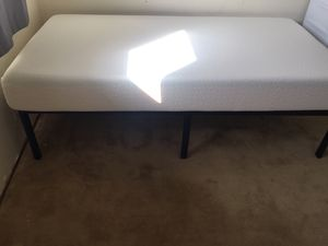 Twin mattress and frame for Sale in Fremont, CA