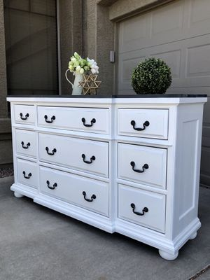 BIG refurbished rustic farmhouse dresser entryway table entry table buffet tv stand for Sale in Glendale, AZ