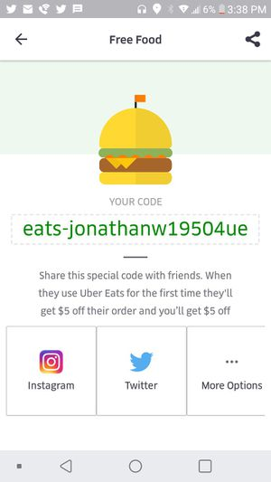 $5 off Uber Eats for Sale in Washington, DC