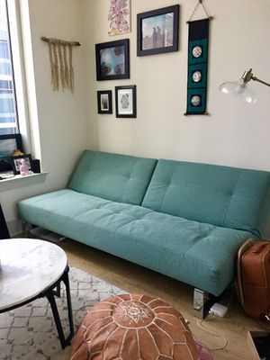 Innovation Living Teal Futon Couch for Sale in Austin, TX