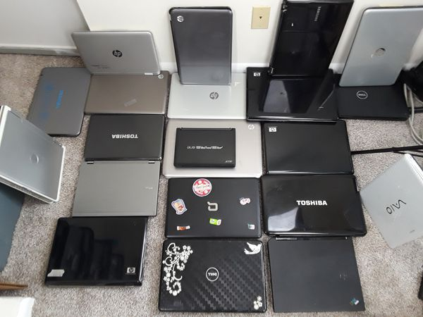 Lot of 20 laptops computer, all sizes and brands.
