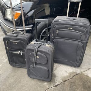 Black canvas luggage 3 for $20 for Sale in Glendora, CA