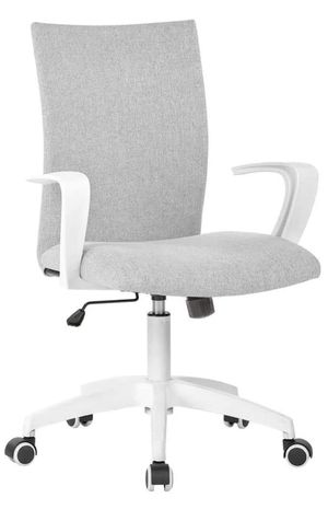 Office Chair Ergonomic Mid Back Swivel Chair Height Adjustable Lumbar Support Computer Desk Chair with Armrest (Grey) for Sale in Arvada, CO