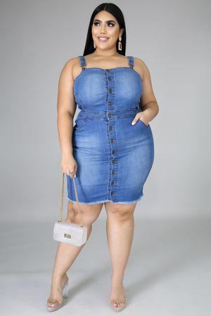 Plus jean dress for Sale in North Palm Beach, FL