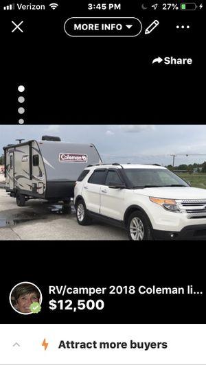 2018 Coleman camper LX 1605 FB for Sale in Tarpon Springs, FL